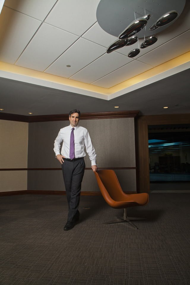 Environmental portrait of business executive, VP of marketing and strategy Cognizant, Corporate portrait